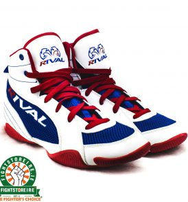 Rival RSX GUERRERO Classic Lo Top Boxing Boots - White/Blue/Red