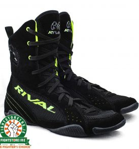 Rival RSX ONE Classic HiTop Boxing Boots - Black/Lime