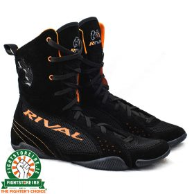 Rival RSX ONE Classic HiTop Boxing Boots - Black/Orange