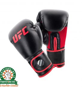 UFC Muay Thai Style Boxing Gloves - Black/Red
