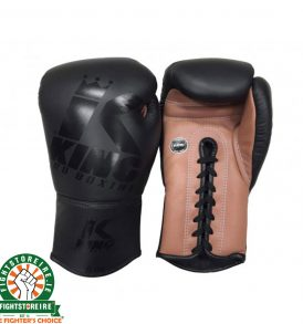 King Leather Lace Up Gloves - Black/Brown