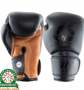 King Star Leather Boxing Gloves - Black/Brown