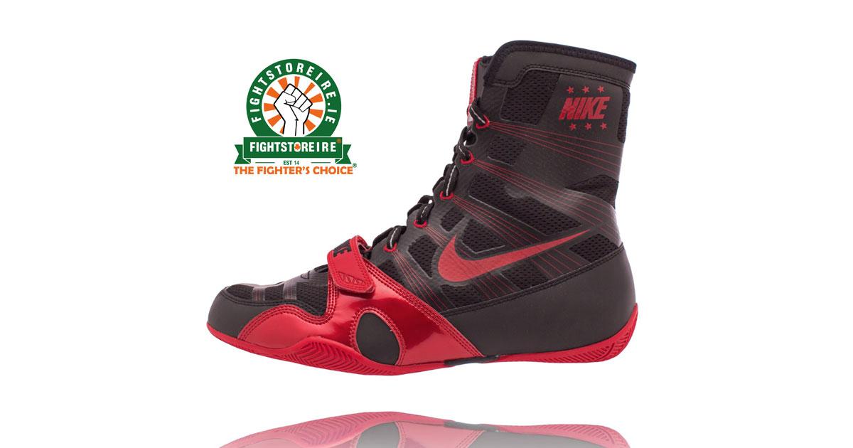 nike hyperko black red