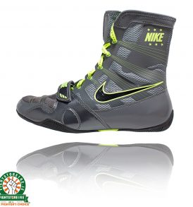 Nike Hyper KO Boxing Boots - Dark Grey/Black/Volt