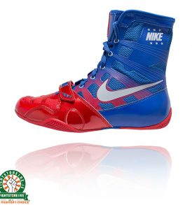 Nike Hyper KO Boxing Boots - Red/Metallic Silver/Royal Blue