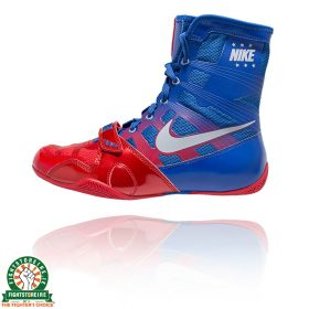 Nike Hyper KO Boxing Boots - Red/Metallic Silver/Royal Blue