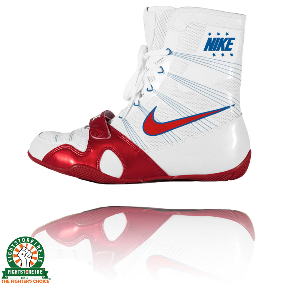 Nike Hyper KO Boxing Boots - White/Royal/Red | Fight Store IRELAND