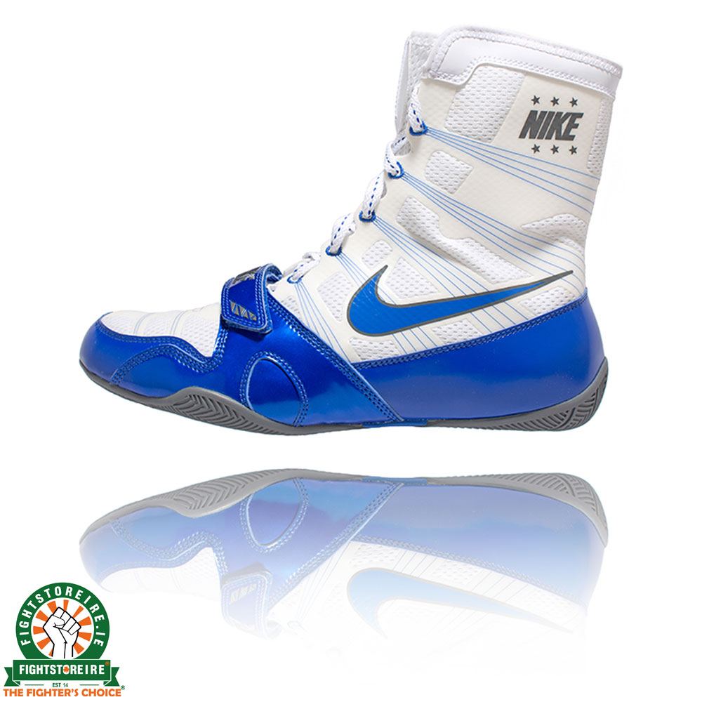 Nike Hyper KO Boxing Boots - White/Game Royal | Fight Store IRELAND