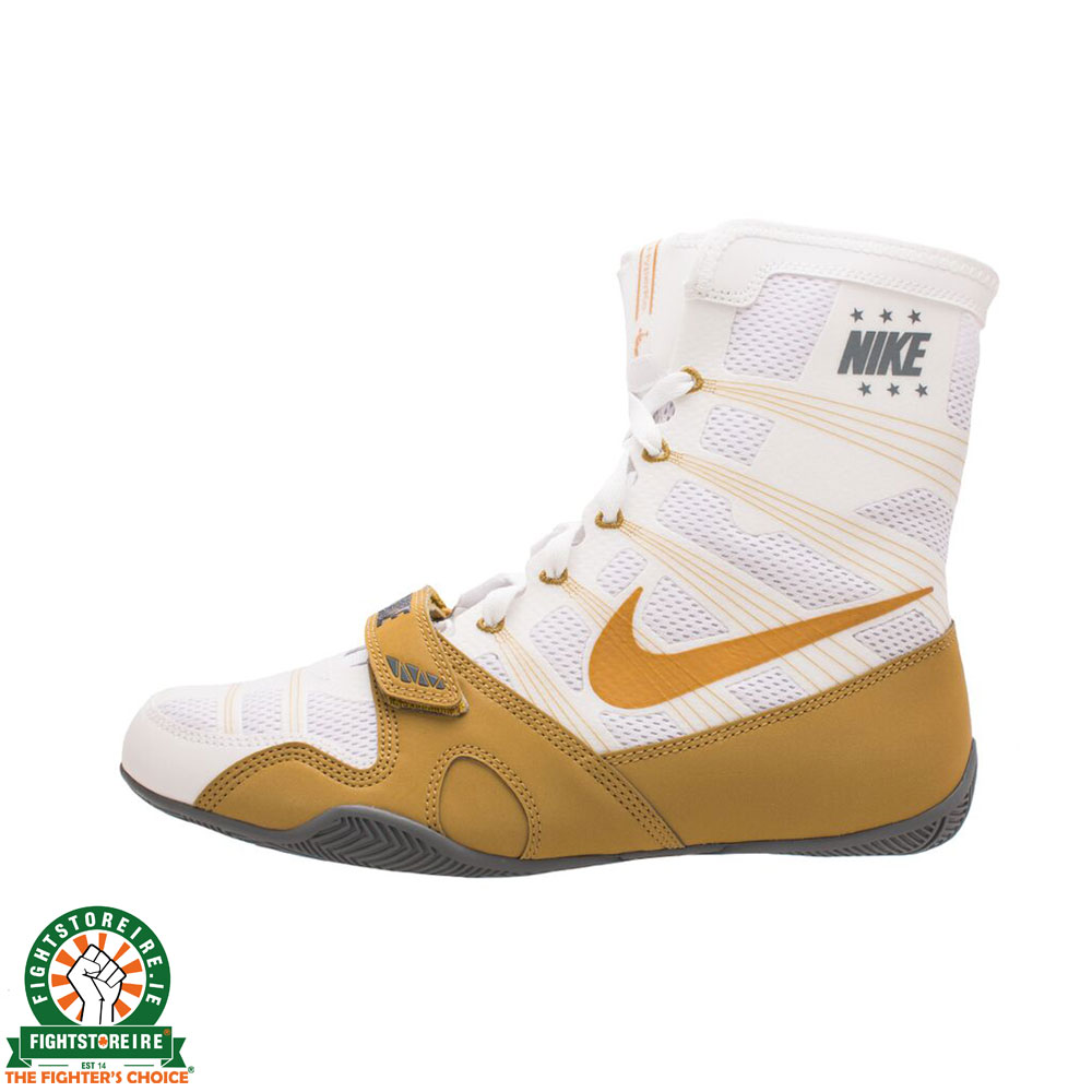 Nike Hyper KO Limited Edition Boxing Boots - White/Gold | Fightstore IRE