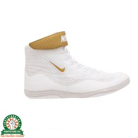 Nike Inflict 3 Limited Edition Wrestling Shoes - White/Metallic Gold