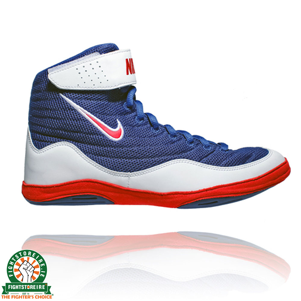 Nike Inflict 3 Wrestling Shoes , Blue/Red/White