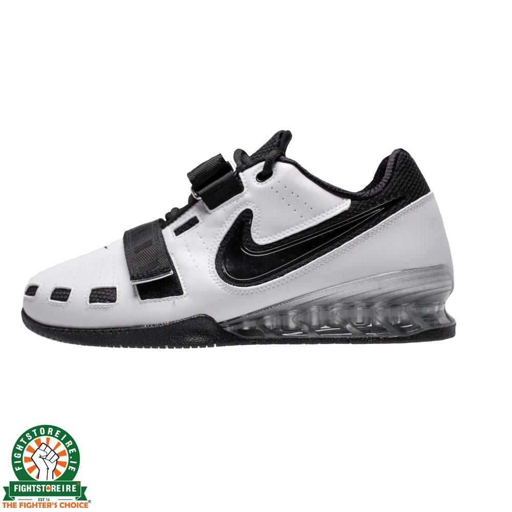 86c295613018f1 Nike Romaleos 2 Weightlifting Shoes - White/Black   Fight Store IRELAND