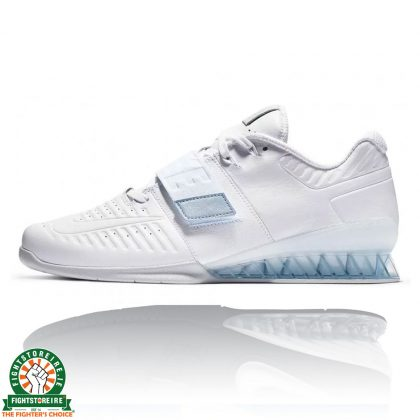 Nike Romaleos 3XD Weightlifting Shoes - White/Metallic Platinum