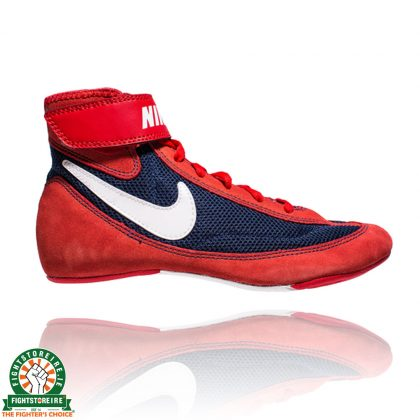 Nike Youth SpeedSweep VII Wrestling Shoes - Red/Navy/White