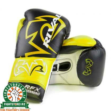 Rival RFX-Guerrero Pro Fight Gloves - HDE-F - Black/Yellow