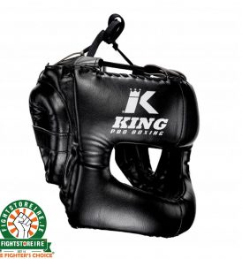 King Pro Boxing Headguard - Black