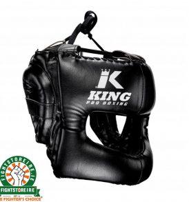 King Pro Boxing Headguard - Black
