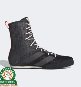 Adidas Box Hog 3 Boxing Boots - Black/Grey
