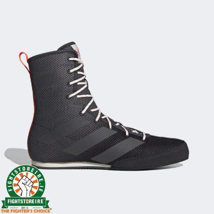 Adidas Box Hog 3 Boxing Boots - Black/Grey