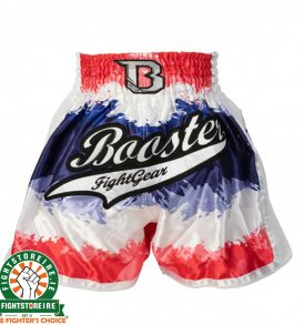 Booster PRO Muay Thai Shorts - Blue/White/Red 4.45
