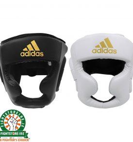 Adidas Speed Full Face Head Guard - Black & White | Fight Store IRELAND