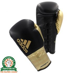Adidas adiPower Lace Boxing Gloves - Black/Gold