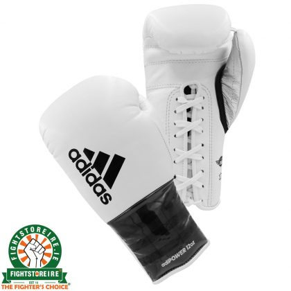 Adidas adiPower Lace Boxing Gloves - Black/White