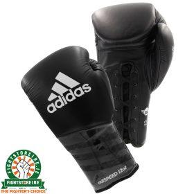 Adidas adiSpeed Lace Boxing Gloves - Black/White