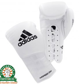 Adidas adiSpeed Lace Boxing Gloves - White/Black