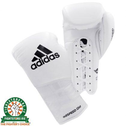 Adidas adiSpeed Lace Boxing Gloves - White/Black