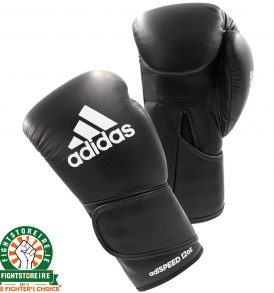 Adidas adiSpeed Velcro Boxing Gloves - Black/White