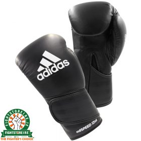Adidas adiSpeed Velcro Boxing Gloves - Black/White