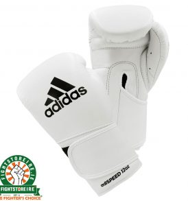 Adidas adiSpeed Velcro Boxing Gloves - White/Black | Fightstore IRE