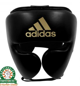 Adidas adiStar Pro Head Guard - Black/Gold | Fightstore IRELAND