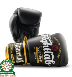 Fightlab Bangkok Vintage Muay Thai Gloves - Black | Fightstore IRE