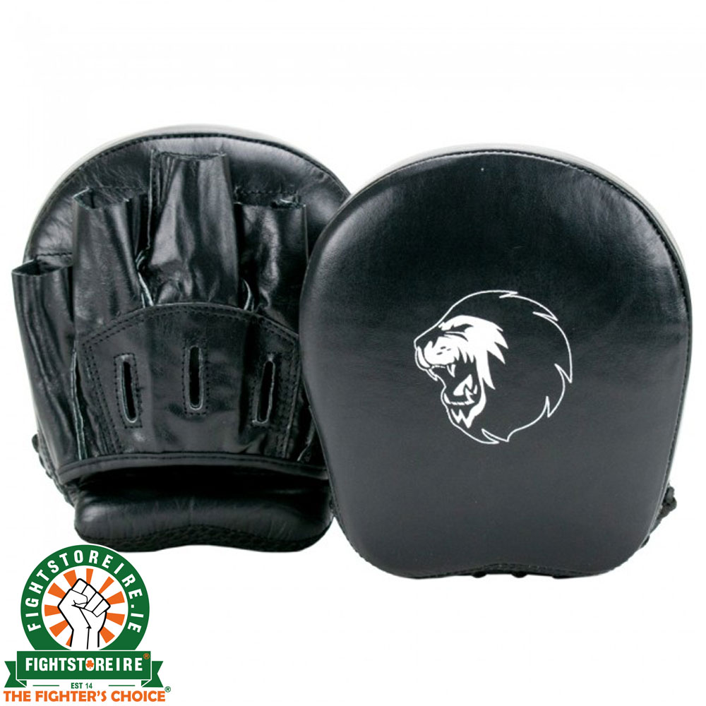 Super Pro Leather Focus Mitts Black
