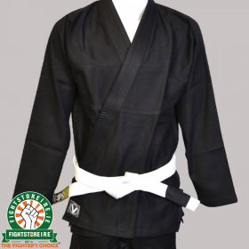 Valor Kanso Plain BJJ Gi - Black with Free White Belt