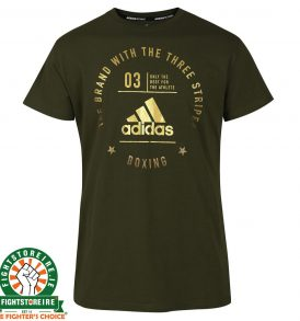 Adidas Boxing T-Shirt Forest/Gold