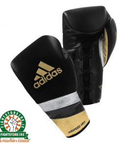 Adidas adiSpeed Lace Boxing Gloves - Black/Gold