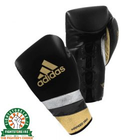 Adidas adiSpeed Lace Boxing Gloves - Black/Gold