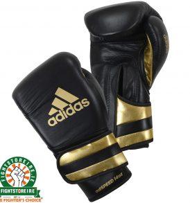 Adidas adiSpeed Velcro Boxing Gloves - Black/Gold