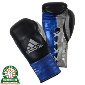 Adidas adiStar BBBC Approved Pro Boxing Gloves - Black/Blue