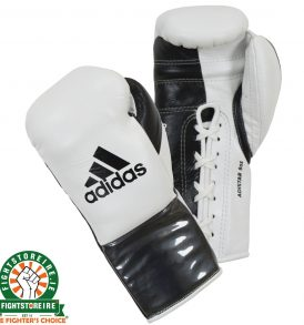 Adidas adiStar BBBC Approved Pro Boxing Gloves - White/Black