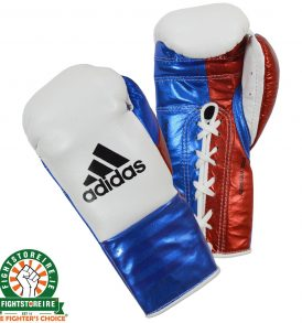 Adidas adiStar BBBC Approved Pro Boxing Gloves - White/Blue/Red