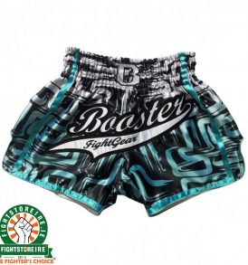 Booster Labyrinth PRO Muay Thai Shorts - Blue