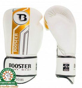 Booster V9 Thai Boxing Gloves - White/Gold