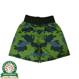 Adidas Camo Boxing Shorts - Black/Green