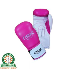 Cimac Artificial Leather Women's Boxing Gloves - Pink/White