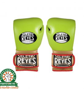Cleto Reyes Velcro Limited Edition Sparring Gloves - Lime Green/Gold