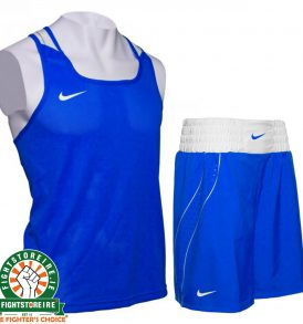 Nike Competition Boxing Vest & Shorts Set - Blue